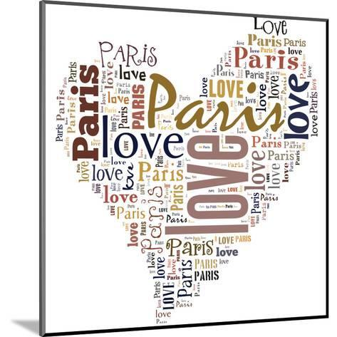 I Love Paris!-alanuster-Mounted Art Print