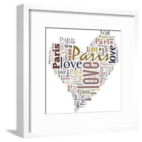 I Love Paris!-alanuster-Framed Art Print