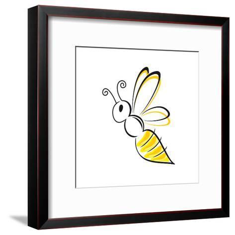 Bee Stylized-talitha-Framed Art Print