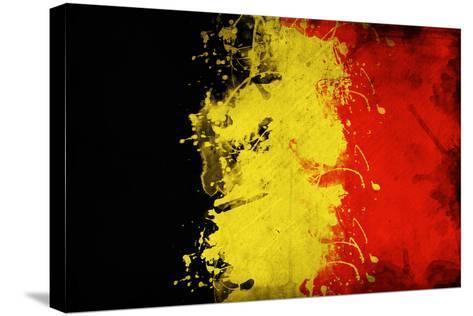 Belgium Flag-igor stevanovic-Stretched Canvas Print