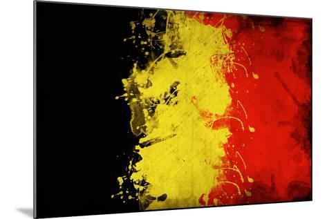 Belgium Flag-igor stevanovic-Mounted Art Print