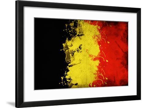 Belgium Flag-igor stevanovic-Framed Art Print