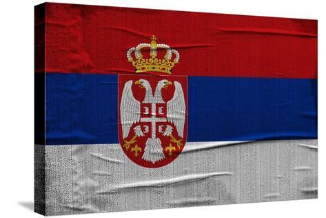 Serbian Flag-igor stevanovic-Stretched Canvas Print