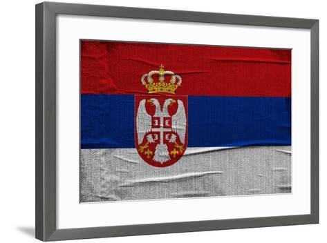 Serbian Flag-igor stevanovic-Framed Art Print