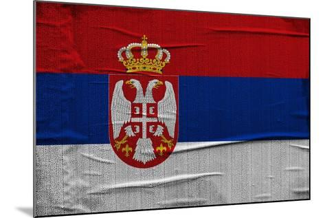 Serbian Flag-igor stevanovic-Mounted Art Print