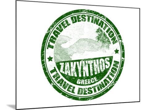 Zakynthos Stamp-radubalint-Mounted Art Print