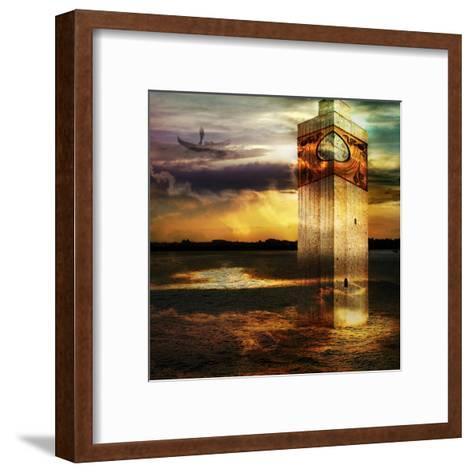 Tower In Italy- sattva_art-Framed Art Print