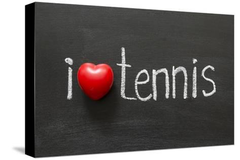 Love Tennis-Yury Zap-Stretched Canvas Print