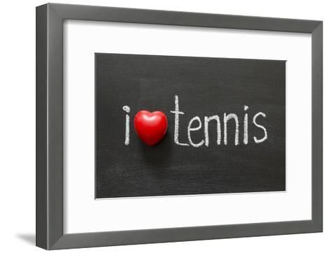 Love Tennis-Yury Zap-Framed Art Print