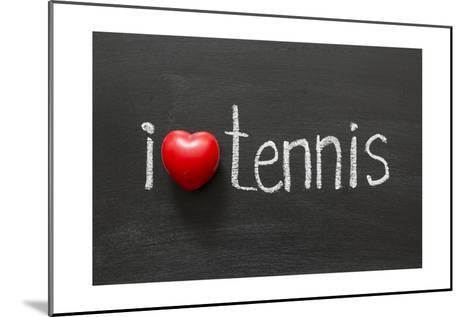 Love Tennis-Yury Zap-Mounted Art Print