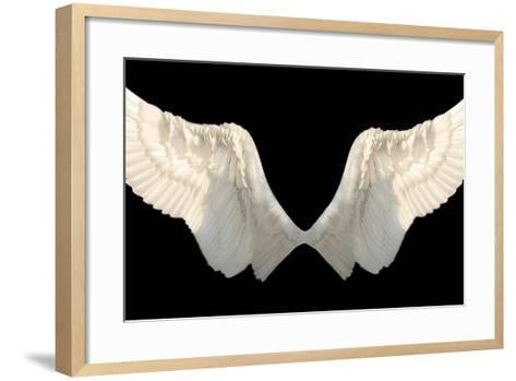 Two Wings Isolated-Lilun-Framed Art Print