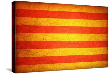Flag Of Catalonia-michal812-Stretched Canvas Print