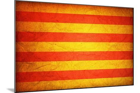 Flag Of Catalonia-michal812-Mounted Art Print
