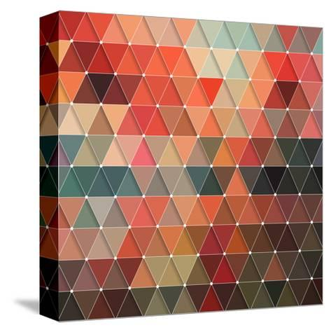 Triangles Pattern-Maksim Krasnov-Stretched Canvas Print