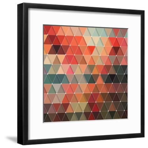 Triangles Pattern-Maksim Krasnov-Framed Art Print
