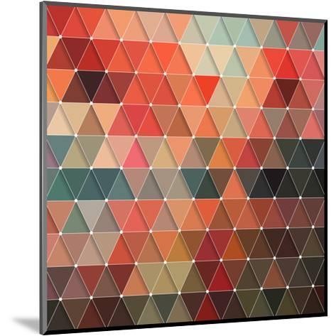 Triangles Pattern-Maksim Krasnov-Mounted Art Print