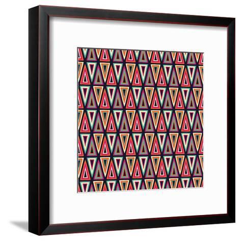 Triangles Pattern-Magnia-Framed Art Print