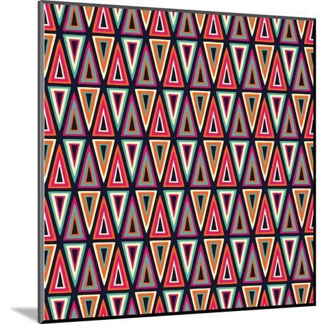 Triangles Pattern-Magnia-Mounted Art Print