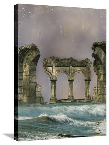 Ruins In The Sea-justdd-Stretched Canvas Print
