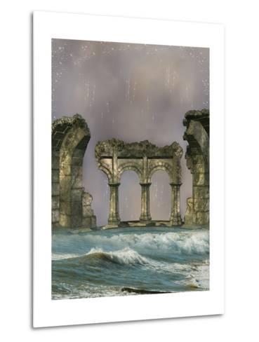 Ruins In The Sea-justdd-Metal Print