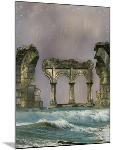 Ruins In The Sea-justdd-Mounted Art Print