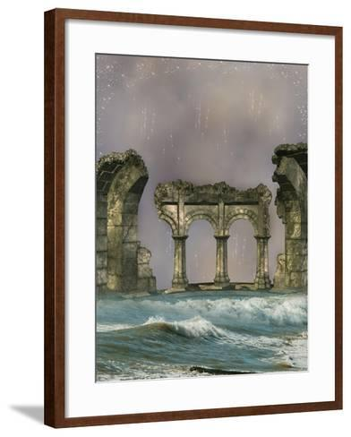 Ruins In The Sea-justdd-Framed Art Print