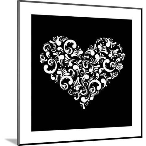 Abstract Heart-Kumer-Mounted Art Print
