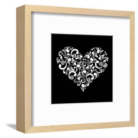 Abstract Heart-Kumer-Framed Art Print