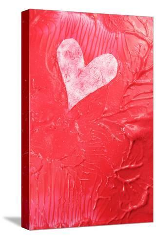 Abstract Heart-Lucian Milasan-Stretched Canvas Print