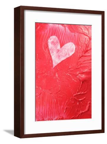 Abstract Heart-Lucian Milasan-Framed Art Print