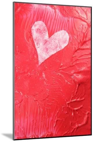 Abstract Heart-Lucian Milasan-Mounted Art Print