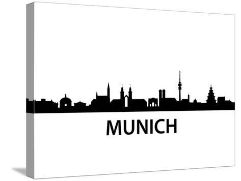 Munich Skyline-unkreatives-Stretched Canvas Print