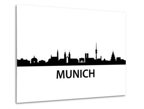 Munich Skyline-unkreatives-Metal Print