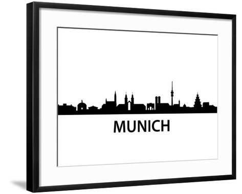 Munich Skyline-unkreatives-Framed Art Print