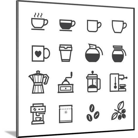 Coffee Icons-pking4th-Mounted Art Print