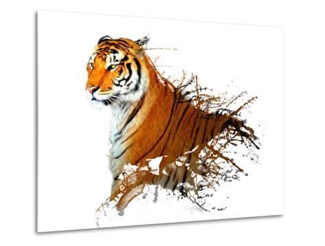 Tiger Splash- MATTIAMARTY-Metal Print