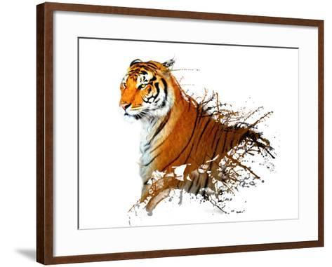 Tiger Splash- MATTIAMARTY-Framed Art Print