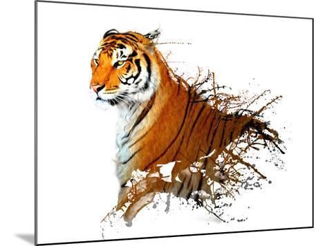 Tiger Splash- MATTIAMARTY-Mounted Art Print