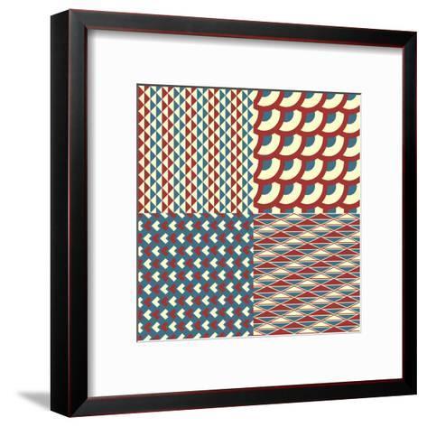 Seamless Pattern-Shonkar-Framed Art Print