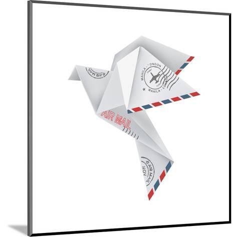 Origami Pigeon-jiris-Mounted Art Print