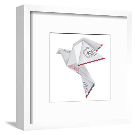 Origami Pigeon-jiris-Framed Art Print