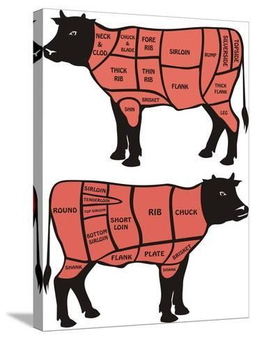 Cuts Of Beef-ciuciumama-Stretched Canvas Print