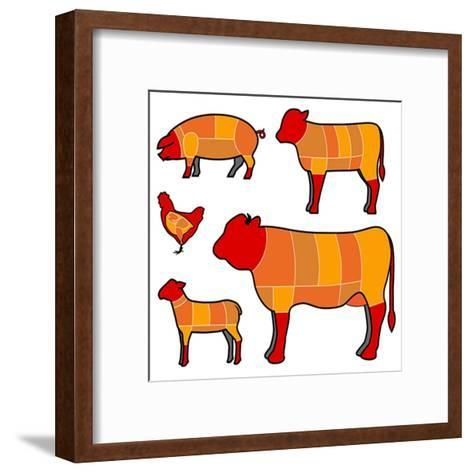 Cutting Meat- skocko-Framed Art Print
