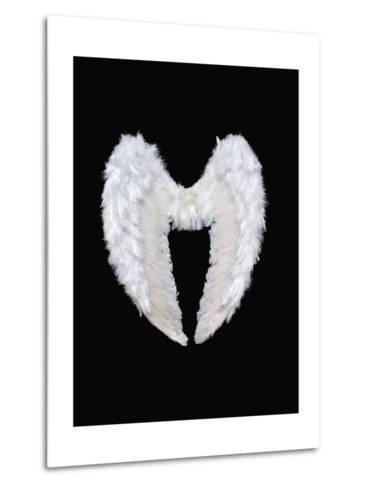 White Angel Wings-Black_blood-Metal Print