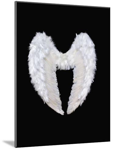 White Angel Wings-Black_blood-Mounted Art Print