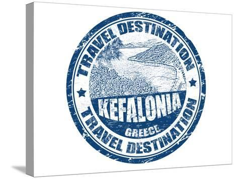 Kefalonia Stamp-radubalint-Stretched Canvas Print