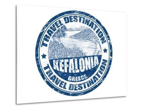 Kefalonia Stamp-radubalint-Metal Print