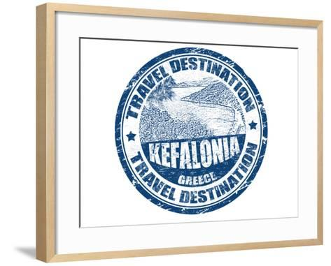 Kefalonia Stamp-radubalint-Framed Art Print