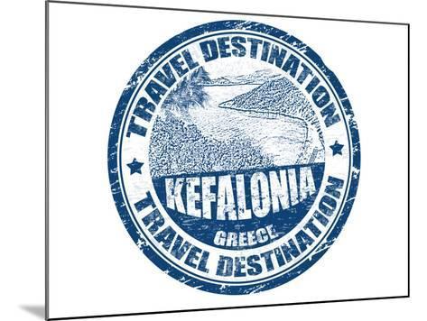 Kefalonia Stamp-radubalint-Mounted Art Print
