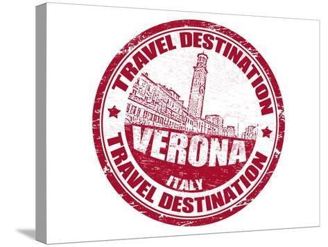 Verona Stamp-radubalint-Stretched Canvas Print